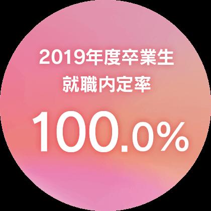 2019年度卒業生就職内定率100%